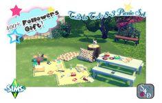 Sims 4 Designs: Followers Celebration Gift! Ts2 to Ts4: 8-3 Picnic Set • Sims 4 Downloads
