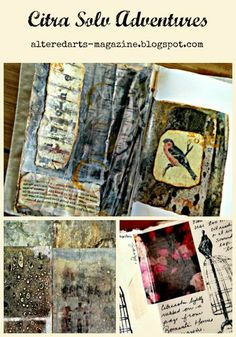 Altered Arts Magazine: Citra Solv Adventures by Kimberly Jones.  Learn to create beautiful mixed media art with Citra Solv.