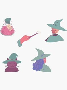 """""""Harry Potter magic spells potion wizard set pack"""" Sticker by Michaela-S 