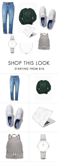 """""""Brrrr"""" by tphillips356 on Polyvore featuring Calvin Klein, Champion, Keds, Recover, Michael Kors, CLUSE and Minnie Grace"""