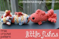 Little Fishes - Free Amigurumi Crochet Pattern - with photo tutorial #crochet #amigurumi