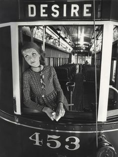 Norman Parkinson ::  Jan ward photographed in a streetcar named Desire, British Vogue, January 1971    more [+] by this photographer