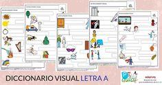 Diccionario Visual con pictogramas Arasaac. Letra A