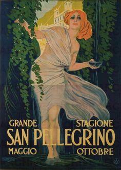 Leopoldo Metlicovitz (1868-1944, Italian), 1921, San Pellegrino, Grande Stagione, Maggio Ottobre (Great Season, May-October)