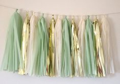 Mint Green Metallic Gold and Vanilla Tassel by APartyInTheHamptons, $28.00
