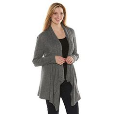 6eb304a107 Apt. 9® Ribbed Open-Front Cardigan (Black Pristine) Black Cardigan