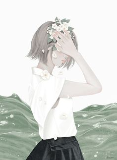 November 2015 ☞ Illustration ☞ is a South Korean illustrator who makes work under the name Ensee. More about Mi-Kyung Choi and her works here. Art Anime, Manga Art, Illustration Girl, Character Illustration, Korean Illustration, Girl Illustrations, Illustrator, Korean Art, Jolie Photo