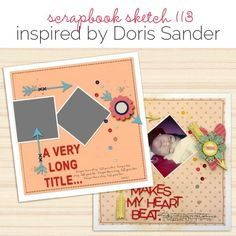 Scrapbook Page Sketch and Template - Scrapbooking Ideas, Memory Keeping, Layout Design Scrapbook Sketches, Scrapbook Page Layouts, Scrapbook Pages, Scrapbooking Ideas, Page Borders, We R Memory Keepers, Crate Paper, Two Year Olds, American Crafts