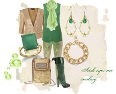 """""""Irish eyes are smiling"""" by anfernee-131 ❤ liked on Polyvore"""