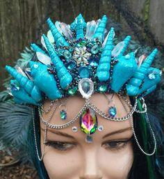 Check out this item in my Etsy shop https://www.etsy.com/listing/505733171/mermaid-quartz-crystal-crown-atlantis
