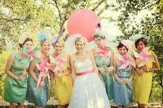 i love thse bridesmaids dresses