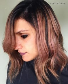 And, of course, if you have a darker complexion you could totally rock this look with a blorange-pink effect. | Here's The Lowdown On The Hair Trend That's About To Take Over 2017