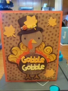 create a critter.  turkey, leaves and gobble saying on page 67
