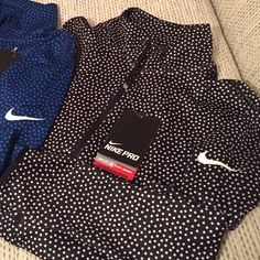 Nike Pro 1/2 Zip Nike Pro 1/2 Zip in polyester/spandex. Brand new w tags, straight from the store. Nike Tops