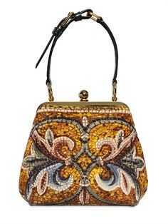 DOLCE & GABBANA - BYZANTINE MOSAIC PRINT MEDIUM AGATA BAG - LUISAVIAROMA - LUXURY SHOPPING WORLDWIDE SHIPPING - FLORENCE