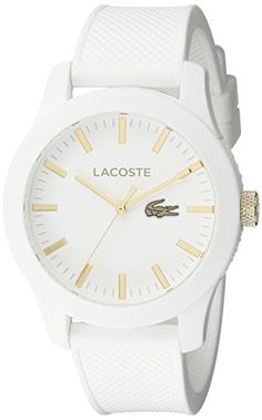 98ca29870db Lacoste Men s 2010819 Lacoste.12.12 Analog Display Quartz White Watch