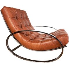 Leather and chrome rocking chair by Milo Baughman- If I wasn't in the office M-F, I would sit in literally 24/7. I wonder if it's as comfortable as it looks....?