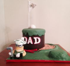 For my much loved Brother-in-law's birthday. He loves his golf and what better company than this little minion guy Golf Course Cake, Good Company, Minions, Brother, Guy, Birthday, Desserts, Tailgate Desserts, Birthdays