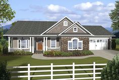 3 Bedroom Ranch With Covered Porches - 20108GA | Country, Ranch, Traditional, 1st Floor Master Suite, CAD Available, PDF, Split Bedrooms | Architectural Designs