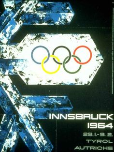 Innsbruck Austria Olympics | Winter Olympics Posters From Chamonix 1924 Winter Olympics To ...