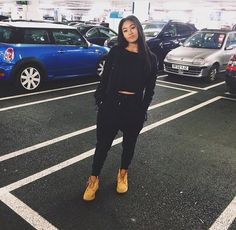 Super how to style timberlands boots long sleeve ideas Tomboy Fashion, Dope Fashion, Fashion Killa, Urban Fashion, Lazy Day Outfits, Dope Outfits, Swag Outfits, Casual Outfits, Fashion Outfits