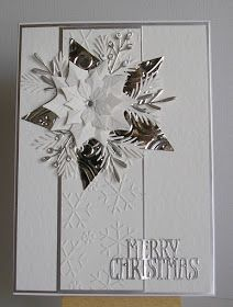 Julieanne: Spellbinder's Shapeabilities Layered Poinsettia Etched Die and star die sets;Well Its very windy here this morning.but sunny and dry. Today's card is one I made in gold a few weeks.Check out the link to find out more Homemade Christmas Car Christmas Cards 2018, Christmas Card Crafts, Homemade Christmas Cards, Homemade Cards, Tonic Christmas Cards, Christmas Vacation, Christmas 2019, Poinsettia Cards, Snowflake Cards