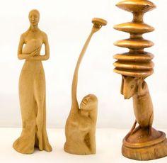Nieuwe fantasievolle houten beelden van Thijs Kwakernaak