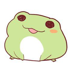 Cute Little Drawings, Cute Animal Drawings, Kawaii Drawings, Cute Drawings, Frog Pictures, Cute Pictures, Arte Van Gogh, Frog Drawing, Frog Art