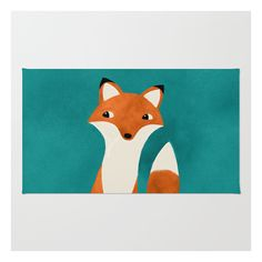 Pink Rug Fox Rug MXN liked on Polyvore featuring home rugs animal