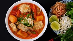 today is all about Bun Rieu, Vietnamese Crab Noodle Soup! My dear friend Be, (who showed us how to make Bun Bo Hue a while ago!) she shared her recipe for Bun Rieu with us! Thank you so much for Be for showing us this amazing Bun Rieu Recipe! Vietnamese Recipes, Asian Recipes, Ethnic Recipes, Vietnamese Food, Beef Noodle Soup, Beef And Noodles, Asian Noodles, Bun Bo Hue Recipe, Pork Riblets
