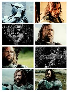 """There are no true knights, no more than there are gods."" —Sandor Clegane"