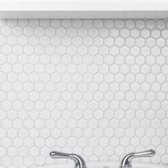 Bedrosians Hex x Porcelain Deco Mosaic Tile in Black and White Mosaic Wall, Mosaic Tiles, Wall Tiles, Backsplash Tile, Fireplace Facade, Fireplace Surrounds, Best Floor Tiles, Shower Floor, Stone Tiles