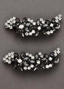 Set of Two Crystal Embellished Barrettes, Style VW371485 #davidsbridal #whitebyverawang #accessories