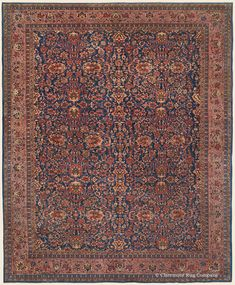 Antique Ferahan Sarouk Persian Carpet with allover floral forms and blossom and vinery border Antique Rug - Claremont Rug Company Persian Carpet, Persian Rug, Turkish Rugs, Homemade Home Decor, Rugs On Carpet, Carpets, Square Rugs, Iranian Art, Home Rugs