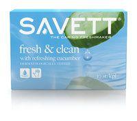 SAVETT FRESH & CLEAN kosteuspyyhe 10 kpl -  kaikenlaiset kosteuspyyhkeet oli sitten kasvoille tai vauvan pepulle jne. meillä EI KÄYTETÄ. mm allergioiden vuoksi.