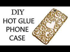 DIY PHONE CASE Life Hacks - Hot Glue Craft - YouTube