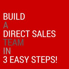 Do you do this to build your direct sales team? #directsales #teambusiness #grow