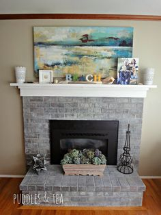 Rita's fireplace