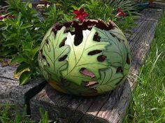GORGEOUS woodburned gourd