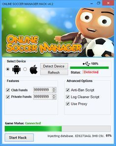 Apk Download Online Soccer Manager Hack Get 9999999 Boss Coin Online Soccer Manager Hack And Cheats Online Soccer Ma In 2020 Play Hacks Cheat Online Management