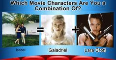 Which Movie Characters Are You a Combination Of?