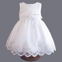 Robe de baptême en organza, tulle et dentelle Charlotte > Babystock