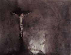 Boissoudy Crucifixion 125×100 washed felt pen on paper lavis de feutre sur papier 2012