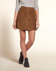 Girls Faux Suede A-Line Skirt | Girls Bottoms | eu.HollisterCo.com