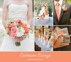 cadmium orange  wedding inspiration http://weddingwonderland.it/2015/05/colori-pantone-autunno-2015.html