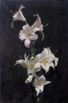 henri fantin-latour....white lilies