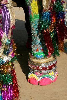 painted elephant Festival india