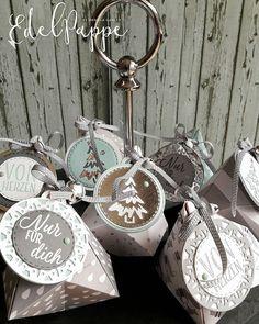 Ein paar Goodies für ganz liebe Mädels mit einer kleinen Süßigkeit. Mal schauen, ob sie sich freuen... #stampinup #weih... Stampin Up Christmas, Christmas 2016, Christmas Crafts, Christmas Decorations, Christmas Ornaments, Holiday Decor, Wrapping Ideas, Gift Wrapping, Stampinup
