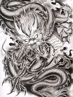 Rồng Dragon Koi Tattoo Design, Dragon Tattoo Sketch, Dragon Tattoo Back, Buddha Tattoo Design, Dragon Sleeve Tattoos, Japanese Dragon Tattoos, Japanese Tattoo Art, Tattoo Sketches, Dragon Chino Tattoo