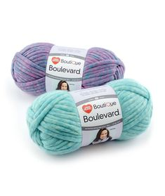 Boutique Boulevard - The unique construction of this yarn allows Boulevard to be super bulky but lightweight. Fun for quick knit and crochet and easy arm-knitting projects.